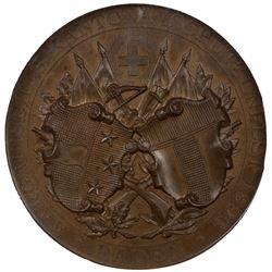 AARGAU: AR shooting medal, 1896. NGC MS65