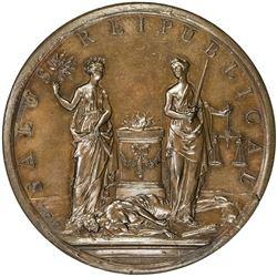 GENEVA: AE medal (57.44g), 1738. AU