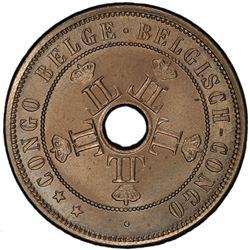 BELGIAN CONGO: Leopold II, 1885-1909, 20 centimes, 1909. PCGS MS65
