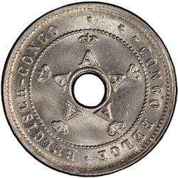 BELGIAN CONGO: Albert I, 1909-1934, 5 centimes, 1926/5. PCGS MS65