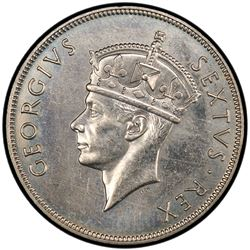 EAST AFRICA: George VI, 1936-1952, 1 shilling, 1949-KN. PCGS SP63