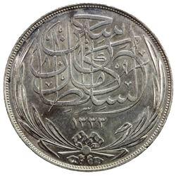EGYPT: Hussein Kamil, 1914-1917, AR 20 piastres, 1917-H/AH1335. AU