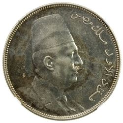EGYPT: Fuad I, as King, 1922-1936, AR 10 piastres, 1923-H/AH1341. NGC MS62