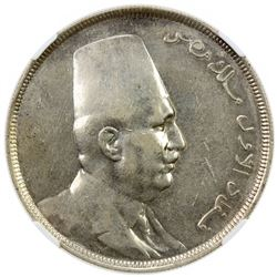 EGYPT: Fuad I, as King, 1922-1936, AR 20 piastres, 1923/AH1341. NGC AU58