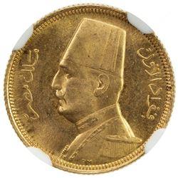 EGYPT: Fuad I, as King, 1922-1936, AV 20 piastres, 1929/AH1348. NGC MS65