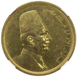 EGYPT: Fuad I, as King, 1922-1936, AV 500 piastres, 1922/AH1340. NGC AU58