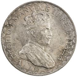 ITALIAN SOMALILAND: Vittorio Emanuele III, 1900-1946, AR 5 lire, 1925-R. AU