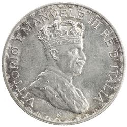 ITALIAN SOMALILAND: Vittorio Emanuele III, 1900-1946, AR 10 lire, 1925-R. BU