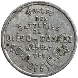 MADAGASCAR: 25 centimes jeton (0.68g), ND [1942]. VF-EF