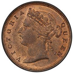 MAURITIUS: Victoria, 1837-1901, AE 2 cents, 1888. PCGS MS64