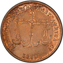 MOMBASA: AE pice, 1888-C/M. PCGS MS63