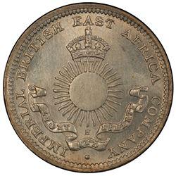 MOMBASA: AR 2 annas, 1890-H. PCGS MS66
