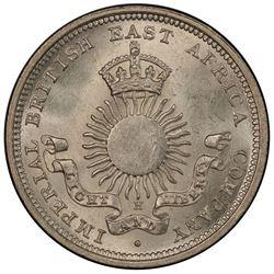 MOMBASA: AR 1/4 rupee, 1890-H. PCGS MS64