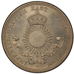 MOMBASA: AR 1/2 rupee, 1890-H. PCGS MS64