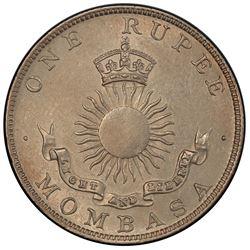 MOMBASA: AR rupee, 1890-H. PCGS MS61
