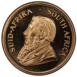 SOUTH AFRICA: Republic, AV krugerrand, 1968. PCGS PF68