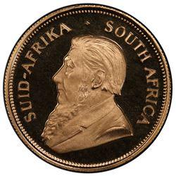 SOUTH AFRICA: Republic, AV krugerrand, 1969. PCGS PF69
