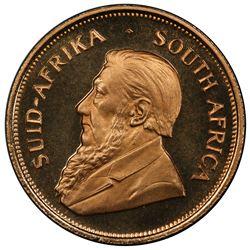 SOUTH AFRICA: Republic, AV krugerrand, 1970. PCGS PF68