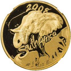 SOUTH AFRICA: Republic, AV 100 rand, 2008. NGC PF70