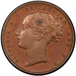 CAPE OF GOOD HOPE: Victoria, 1837-1901, AE penny, 1889. PCGS SP62