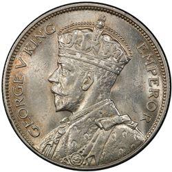 SOUTHERN RHODESIA: George V, 1910-1936, AR halfcrown, 1936. PCGS MS62