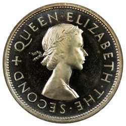 SOUTHERN RHODESIA: Elizabeth II, 1951-1953, AR crown, 1953. PF