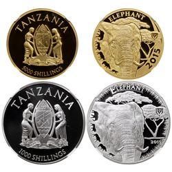 TANZANIA: Republic, 2-coin proof set, 2015