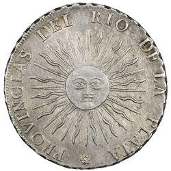 ARGENTINA: Rio de la Plata, AR 8 reales, 1815-PTS. EF