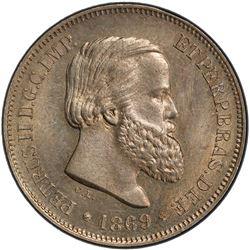 BRAZIL: Pedro II, 1831-1889, 10 reis, 1869. PCGS SP