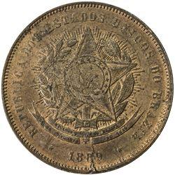 BRAZIL: Republic, AE 20 reis, 1889. AU