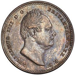 BRITISH GUIANA: William IV, 1831-1836, AR guilder, 1836. PCGS AU53