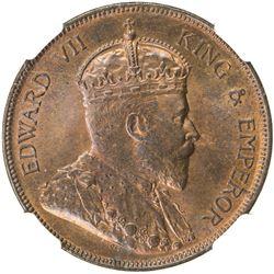 BRITISH HONDURAS: Edward VII, 1901-1910, AE cent, 1904. NGC MS64
