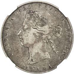 CANADA: Victoria, 1837-1901, AR 50 cents, 1871. NGC VF