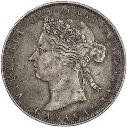 CANADA: Victoria, 1837-1901, AR 50 cents, 1881-H. PCGS EF40
