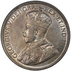 CANADA: George V, 1910-1936, AR 50 cents, 1934. PCGS AU55
