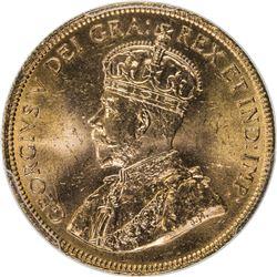 CANADA: George V, 1910-1936, AV 10 dollars, 1914. PCGS MS64