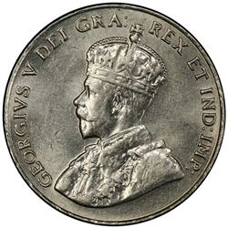 CANADA: George V, 1910-1936, 5 cents, 1926. PCGS MS62