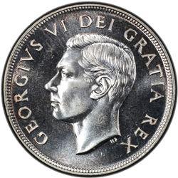 CANADA: George VI, 1936-1952, AR dollar, 1951. PCGS UNC
