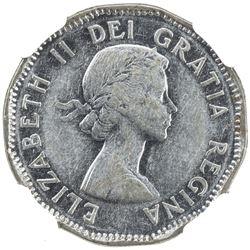 CANADA: Elizabeth II, 1952-, 5 cents, 1953. NGC AU50