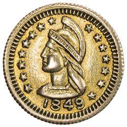 CANADA: AV 1/2 dollar token (0.59g), 1849. EF-AU
