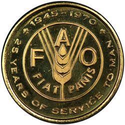 CANADA: AV medal (7.87g), 1970. PCGS SP69