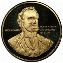 CANADA: AV medal (28.56g), 1971. PCGS SP68