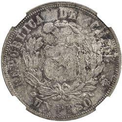 CHILE: Republic, AR peso, 1881-So. NGC MS64