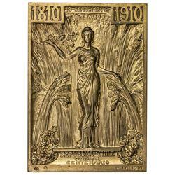 CHILE: Republic, AV plaque (85.57g), 1910. UNC