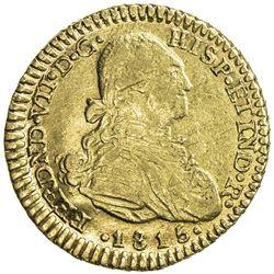 COLOMBIA: Fernando VII, 1808-1822, AV escudo, 1815-NR. EF-AU
