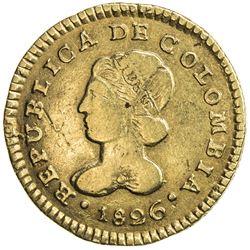 COLOMBIA: Republic of Gran Colombia, 1819-1831, AV escudo, Popayan, 1826. VF