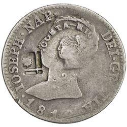 COSTA RICA: Republic, AR 2 reales, ND [1845]. VG-F
