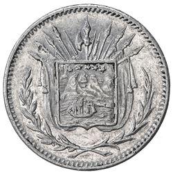 COSTA RICA: Republic, 1 centavo, 1892. EF-AU
