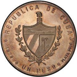 CUBA: Republic, AR peso, 1970. PCGS PF65