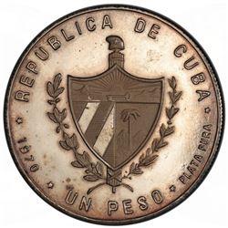 CUBA: Republic, AR peso, 1970. PCGS PF63